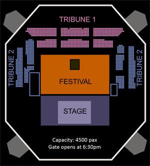 Denah Tennis Indoor Senayan Westlife Gravity Tour 2011