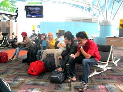 Ruang tunggu sebelum naik pesawat